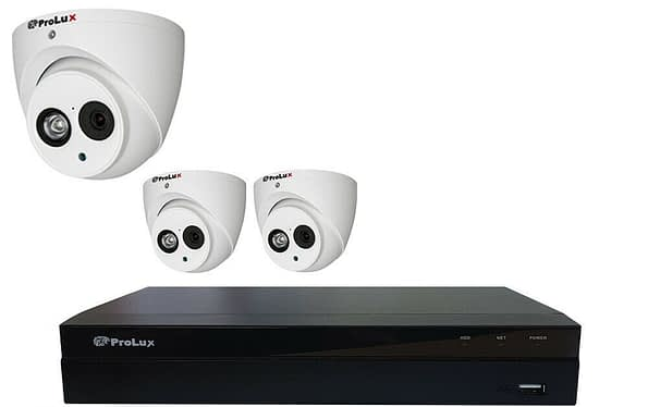 3*2MP Camera and Recorder CCTV Package